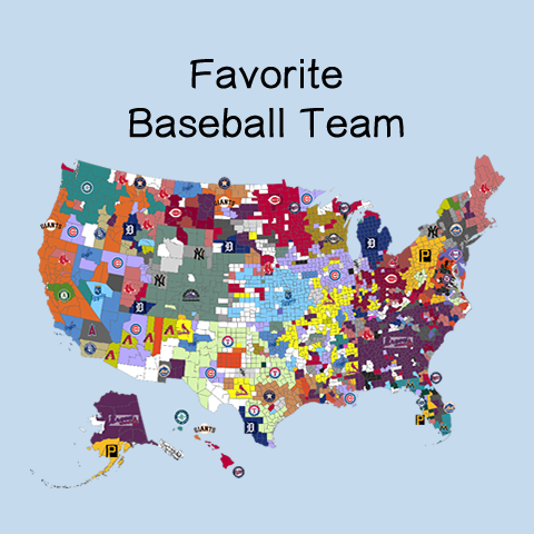 Favorite Baseball Team according to Twitter Dr Matthew J Koehler